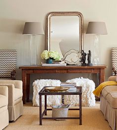 Decorating Trends: Lovely warm gray tones.