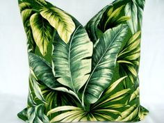 Tropical Palm Leaves Decorative Designer Green by LavishPillows, $25.00