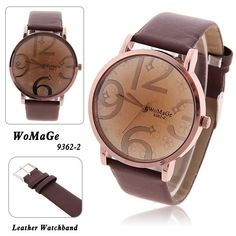 3.55$  Watch here - http://di1lq.justgood.pw/go.php?t=WW0116104 - WoMaGe Trendy Girls' Watch with Quartz Hours Analog Flower Patterned Dial 20mm Leather Band - Brown