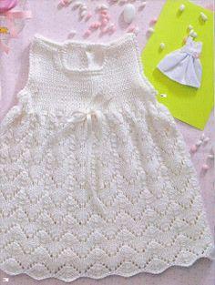 """basta un filo........ lavori a maglia per bambini: Per il battesimo di una """"lei"""""""