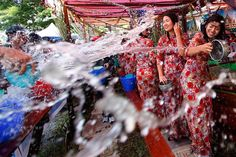 Shwedagon Pagoda Festivals and Myanmar Festivals Aesthetic Clothing Stores, Shwedagon Pagoda, Most Beautiful Child, Water Fight, Myanmar Travel, Award Winning Photography, Water Party, Yangon, Find Picture