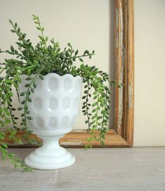 Vintage Milk Glass Planter E.O. Brody M4200