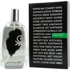 Launched by the design house of Benetton in 2011, BENETTON NERO by Benetton for Men posesses a blend of: Blood Tangerine, Grapefruit, Peppermint, Black Ebony, Patchouli, And Musk. It is recommended for evening wear.