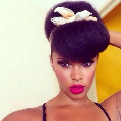 Image result for ponytail hairstyles for black natural hair