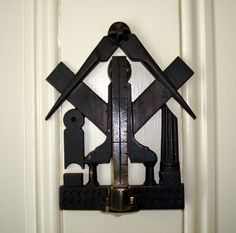 Masonic Door Knocker, Mumford River Masonic Lodge in Douglas, Massachusetts by Svadilfari, via Flickr