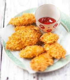 Baby : Bocconcini di pollo in crosta di cornflake