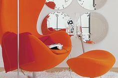 Orange im Retro-Look - Wohnräume einrichten in Orange 1