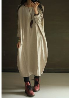 Women Plus Size Linen Maxi Dress