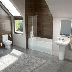 Buy Studio Bathroom Suite LH Shower Bath, Basin and Close Coupled Toilet today. Bath Shower Mixer Taps, Bath Taps, Bathrooms Suites, Close Coupled Toilets, Illuminated Mirrors, Bath Screens, Bath Panel, Toilet Brushes And Holders, Complete Bathrooms
