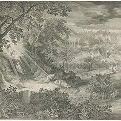 Landschap met Christus in de hof van Gethsemane, Jan van Londerseel, after David Vinckboons, 1580 - 1625 - Rijksmuseum