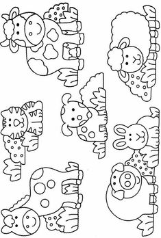 Art Drawings For Kids, Drawing For Kids, Easy Drawings, Art For Kids, Animal Coloring Pages, Coloring Book Pages, Coloring Sheets, Animal Sketches, Animal Drawings