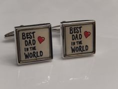 Best Dad in the World Cufflinks Husband Cufflinks by BrooklynYards, $25.00