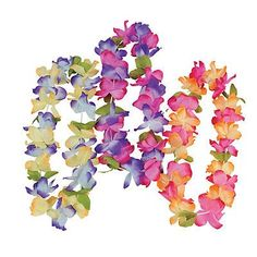 The cutest Hawaiian Floral Leis for your Summer Parties!  They are perfect for a girl Hawaiian birthday party or a Moana themed Party!