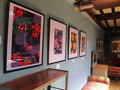 Lizzie Derriey prints on display at Liberty of London, Floor In a recent coup, a couple in the south of France came across … French Wallpaper, Liberty Of London, Textile Design, Parisian, Original Artwork, Gallery Wall, Concept, Flooring, Frame