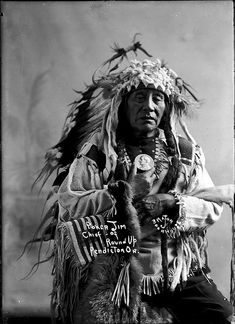 Poker Jim, Chief of Round Up, Pendleton, OR. Early 1900s. Photo by Lee Moorhouse.