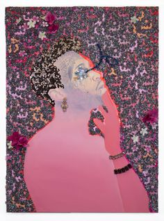 By Devan Shimoyama. Courtesy of Samuel Freeman Gallery.  Devan Shimoyama is the winner of the 2016 Miami Beach PULSE Prize at PULSE Miami Beach. The artist's work was the subject of a solo presentation at the booth of Los Angeles's Samuel Freeman Gallery, a first time exhibitor at the fair.
