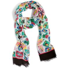 Vera Bradley Soft Fringe Scarf in Havana Hothouse ($38) ❤ liked on Polyvore featuring accessories, scarves, cuban stamps, bamboo scarves, vera bradley, viscose scarves, fringe shawl and fringe scarves