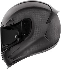 """This new entry for the Icon Airframe Pro helmet is aimed at the """"Crouching rider, fast motorcycle"""" combination. The helmet is designed for those Carbon Fiber Motorcycle Helmet, Carbon Fiber Helmets, Motorcycle Helmet Design, Motorcycle Outfit, Motorcycle Accessories, Yamaha R6, Riding Gear, Riding Helmets, Biker Helmets"""