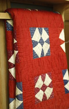 aplaceinthecountry: by Yellow Suitcase Studio Old Quilts, Antique Quilts, Vintage Quilts, Scrappy Quilts, Patriotic Quilts, Quilt Of Valor, Country Quilts, Hand Quilting, Quilt Making
