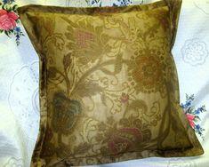 """Ralph Lauren Fabric """"Venetian Counrt"""" Hand Made Accent Pillow - Removable Cover Toss Pillows, Accent Pillows, Ralph Lauren Fabric, Brown Pillows, Ebay Shopping, How To Make Pillows, Queen Duvet, Custom Pillows, Fabric Decor"""