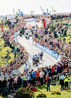 The fans turned out in a huge way for the Tour of Britain's first ever uphill finish at Haytor. Photo: © Jered Gruber