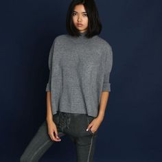 Knitty Knitty Bang Bang Mock Neck Sweater - Thought Process Boutique  - 1