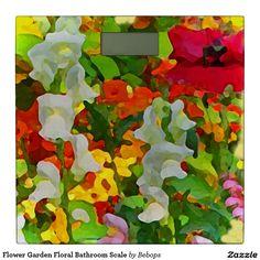 #FlowerGarden Floral Bathroom Scale @bebopsplace