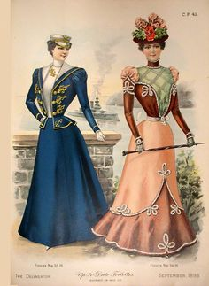 Delineator 1898-09 Fashions http://www.magazineart.org/magazines/d/delineatorfashionpages/Delineator1898-09Fashions2.html