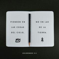 Colosenses 3.2 #PalabraDeDios