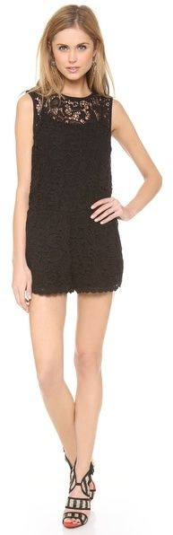 Black Lace Playsuit by Ella Moss. Buy for $169 from shopbop.com