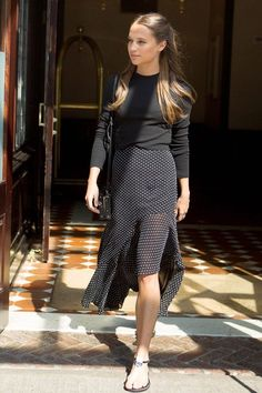 Alicia Vikander Does All Black In Summer