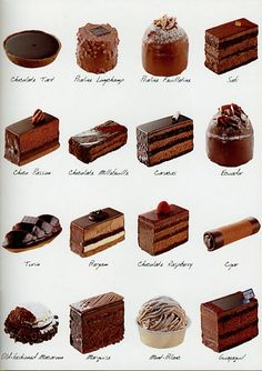 Their Turin is to die for. A collection of the chocolate available at the Jean Paul Hevin boutique. French Desserts, Mini Desserts, Chocolate Desserts, Just Desserts, Delicious Desserts, Yummy Food, Gourmet Desserts, Sweet Recipes, Cake Recipes
