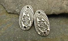 Floral Paisley Links  Artisan Sterling by sweetrockcandybeads