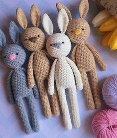 PATRONES AMIGURUMI GRATIS: PATRON GRATIS CONEJO AMIGURUMI 38564 Crochet Amigurumi, Amigurumi Patterns, Crochet Dolls, Amigurumi Doll, Knitted Dolls, Crochet Pattern Free, Crochet Animal Patterns, Crochet Blanket Patterns, Crochet Appliques