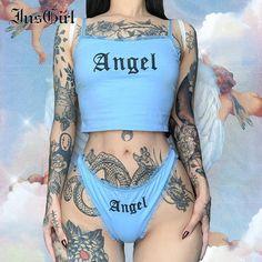 Style Streetwear, Streetwear Fashion, Hot Tattoos, Girl Tattoos, Girl Stomach Tattoos, Tatoos, Pernas Sexy, Casual Suit, Hai