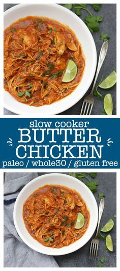 One of our all-time favorite healthy slow cook… Slow Cooker Paleo Butter Chicken. One of our all-time favorite healthy slow cooker meals. The sauce is so good you'll lick the bowl clean. Paleo Whole 30, Whole 30 Recipes, Whole 30 Crockpot Recipes, Family Recipes, Butter Chicken, Clean Eating, Healthy Eating, Paleo Dinner, Dinner Recipes