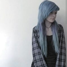"[FC: Sarah Christine Fowler] ""Hi…My name's Sarah and I'm I have an older brother named Patty who's kind of over protective of me.I like reading and being alone. I have bipolar depression and I'm slightly anorexic…Anyway, who're you? Emo Scene Hair, Emo Hair, Undercut Hairstyles, Hairstyles With Bangs, Haircuts, Alternative Hair, Scene Girls, Emo Girls, Dye My Hair"