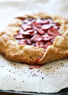 Easy balsamic strawberry crostata