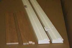 KARMSETT 9X21 HVITMALT M/DEMP KARMSETT KOMPLETT MED DEMPELIST Wood, Woodwind Instrument, Timber Wood, Trees