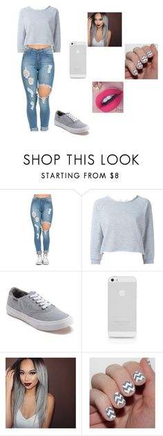 """""""grey"""" by tkaigibson-1 on Polyvore featuring Gaëlle Bonheur and Vans"""