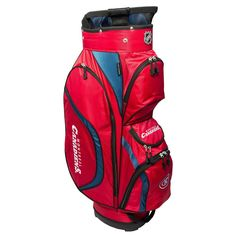 Team Golf Montreal Canadiens Clubhouse Golf Cart Bag, Multicolor