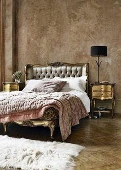 Elegant Paris Decor For Bedroom : Chic Paris Decor for Bedroom – Better Home and Garden. Love the wall modeling!