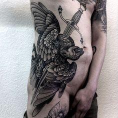 Tattoo done byAlexander Grim. (in progress) @alexandergrim