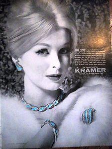 Kramer 1961 #vintage #jewelry ad