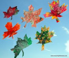 This fall leaf crayon craft will look beautiful as it becomes a sun catcher in the windows this autumn.