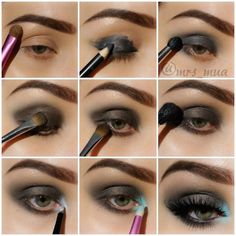 Step by step eye makeup - PICS. Eva Tornado's collection