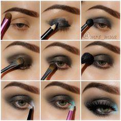 Step by step eye makeup - PICS. Eva Tornado's collection