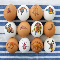 All you need is temporary tattoos to decorate Easter eggs.