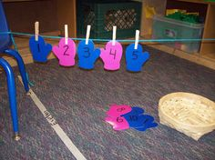 Cute practice for ordering numbers.