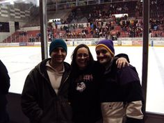 Travis, Stacy & Kyle at St. Cloud University hockey game